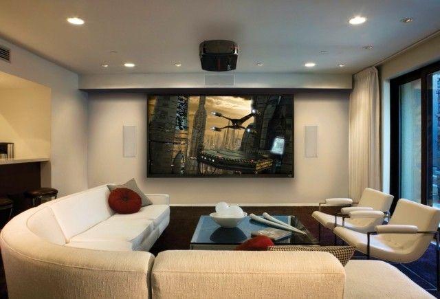 saln moderno diseo relevisor grande muebles blancos precioso bonito