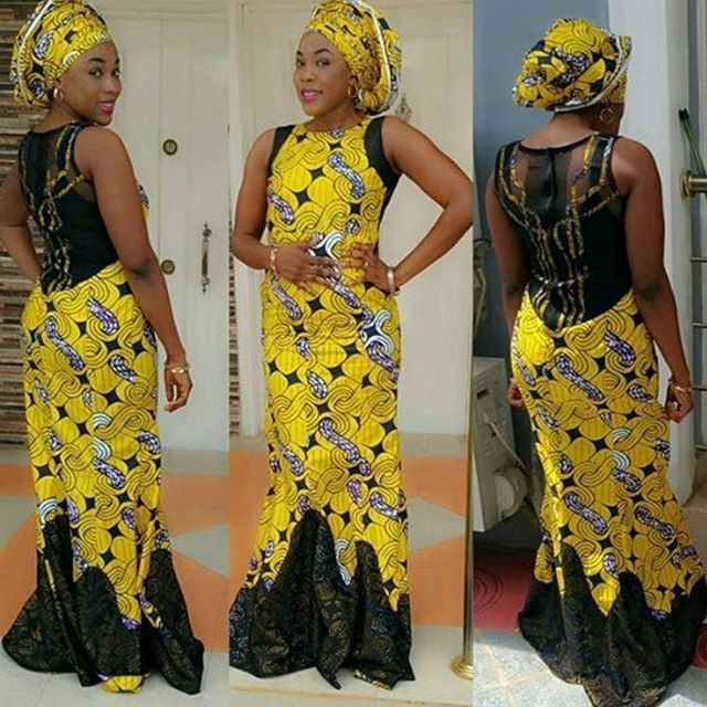 Check Out This Styles Gold and Black http://www.dezangozone.com/2016/04/ankara-long-gown-styles.html