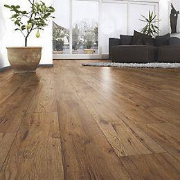 Andante Natural Oak Effect Laminate Flooring 1 72 M Pack Departments Diy At B Q Exteriors Interiors Flooring Laminate Flooring Laminate Flooring On