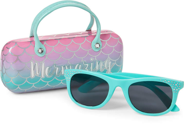f6296b6803 Capelli New York (Girls 4-6x) Mermaid Sunglasses   Case Set
