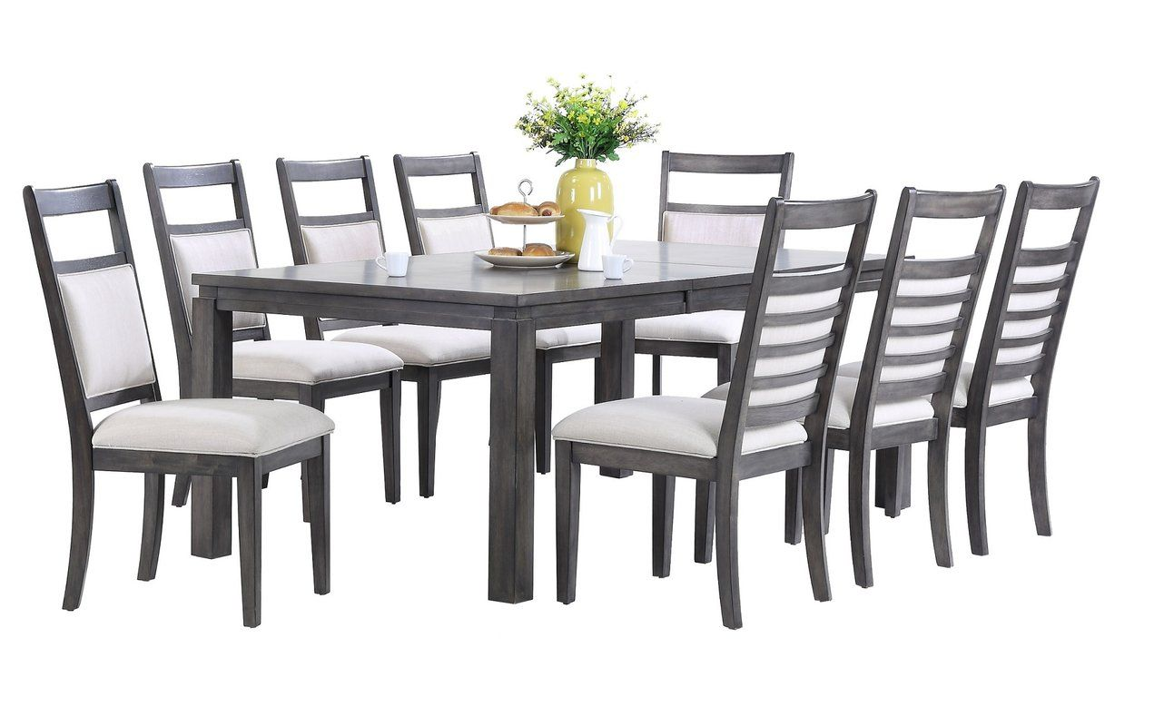 Atticus 7 Piece Solid Wood Dining Set Dining Room Sets Solid