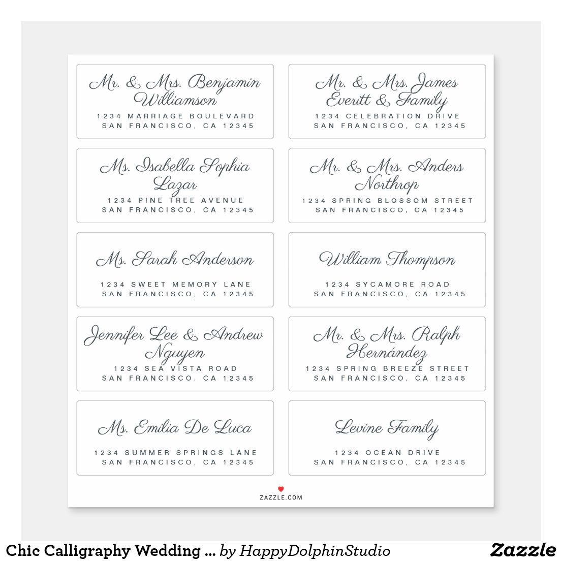 Wrap Around Address Label So Simple With The Color Added Just In A Thin Line Wedding Address Labels Addressing Wedding Invitations Addressing Envelopes