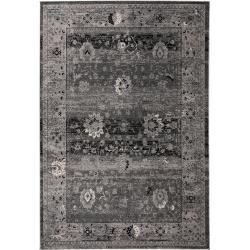 Photo of benuta carpet velvet anthracite 140×200 cm – vintage carpet in used look benuta