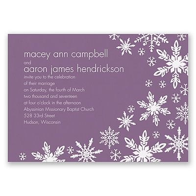 Snowflake Melody - Wisteria - Invitation