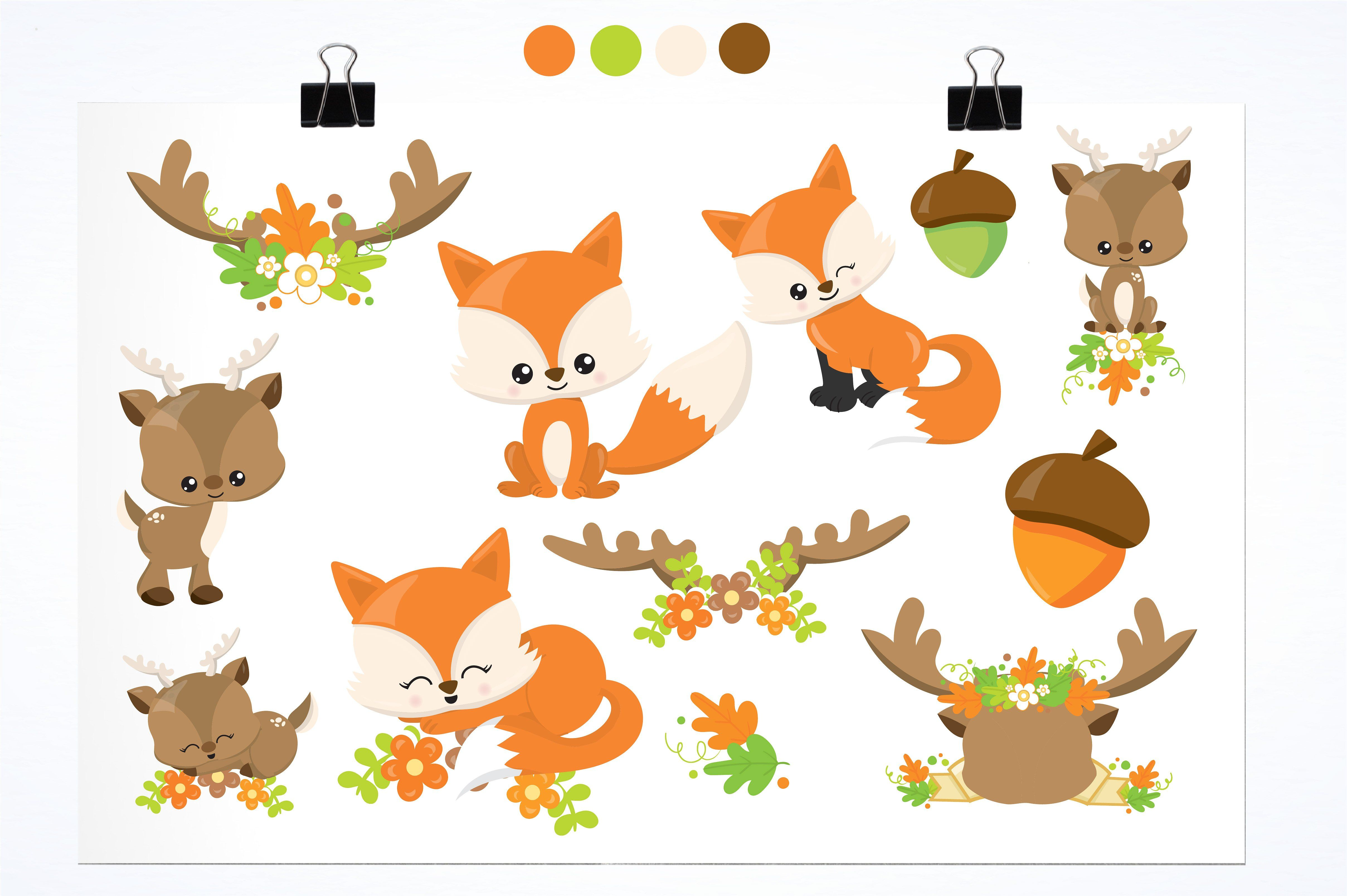 Spring Animals Illustration Pack Spring Animals Cute Animal Clipart Animal Illustration