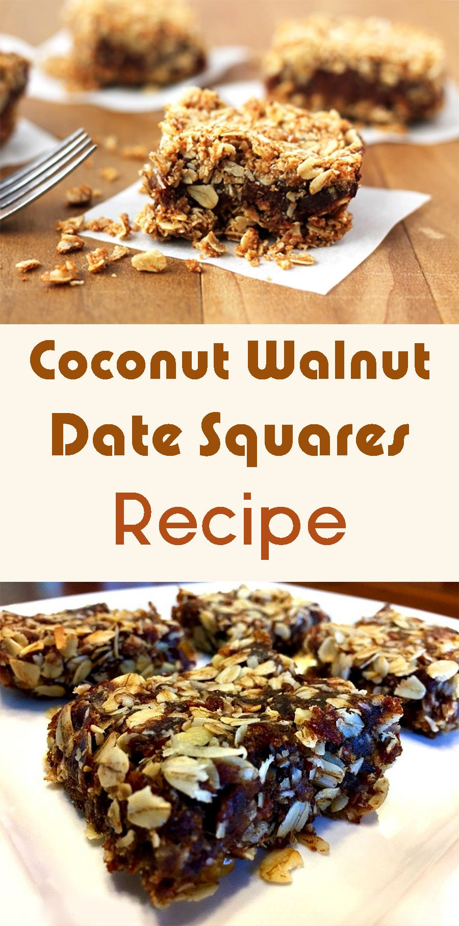 Coconut Walnut Date Squares Recipe