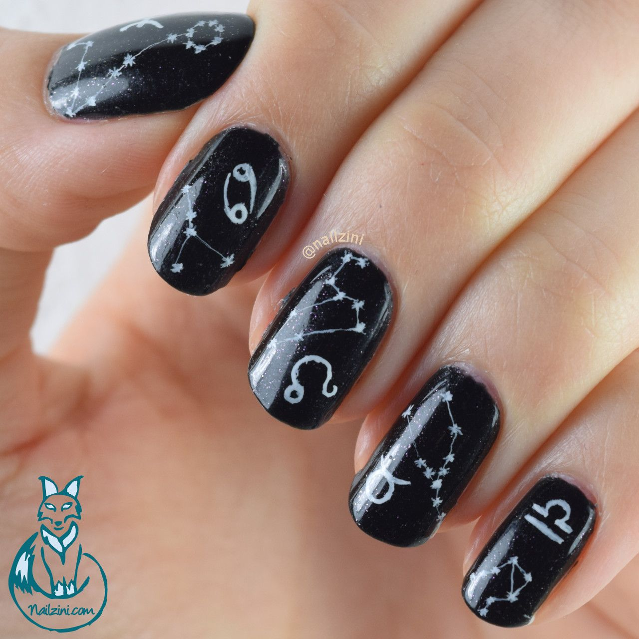 Nailzini: A Nail Art Blog: Zodiac Signs Nail Art | Detailed Freehand ...