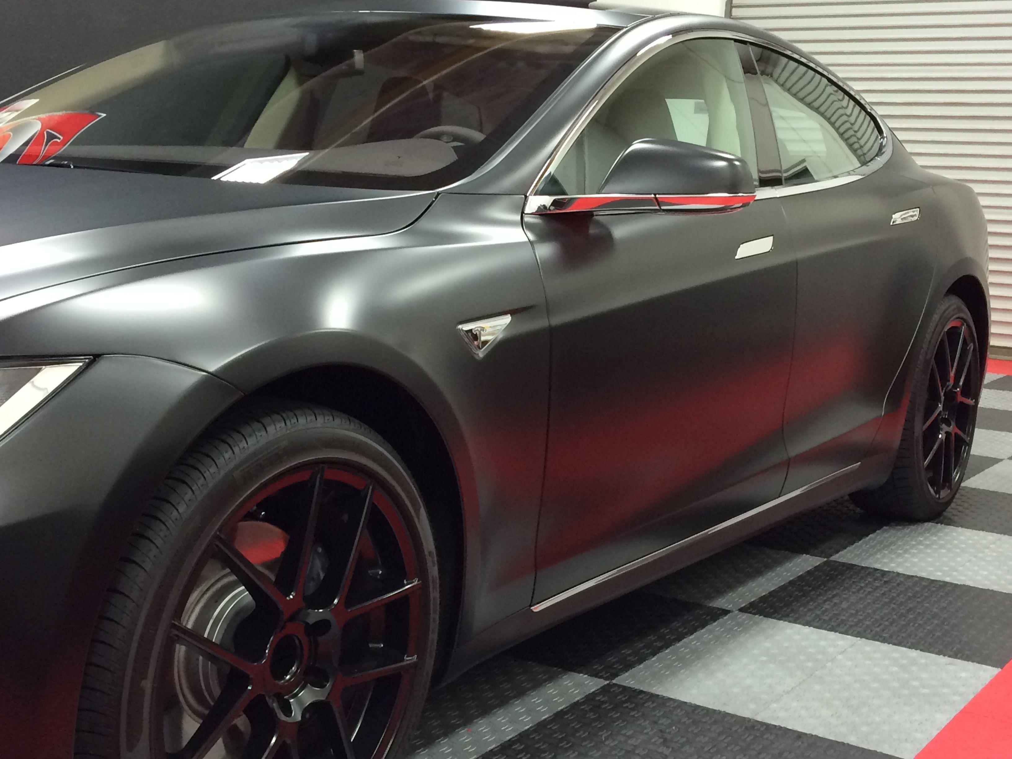 Tesla Model S Full Car Matte Finish Paint Protection Wrap