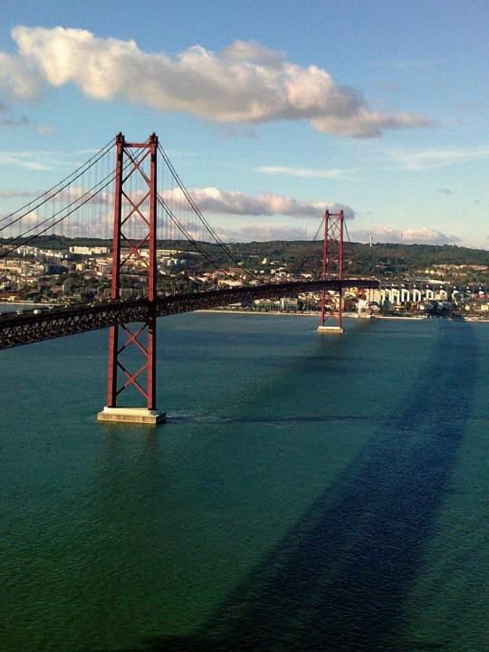 Bridge Over Tagus River Connecting Lisbon To The South Portugal