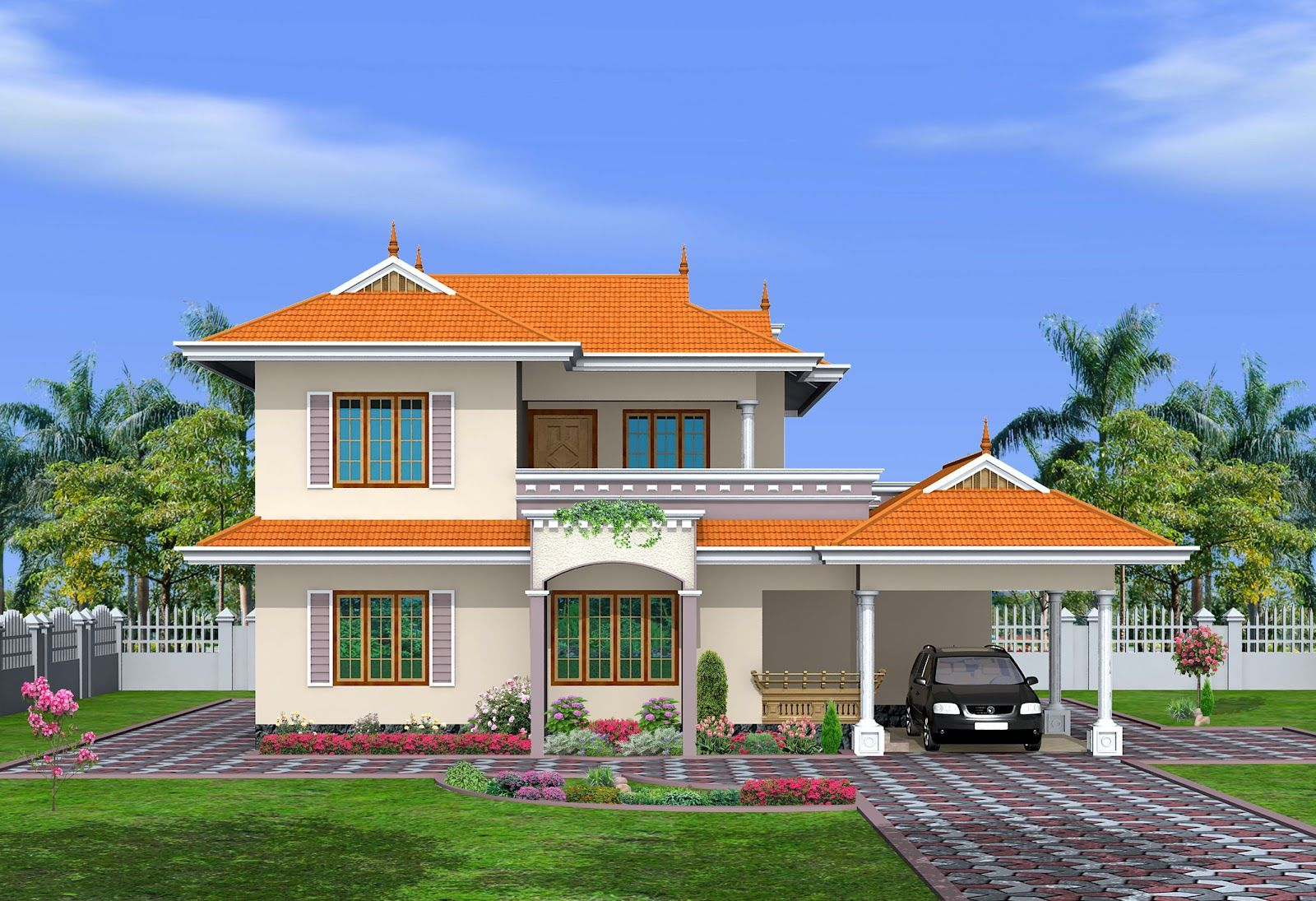 Indian Home Exterior Designs Gallery Styles Of Homes With Pictures 2 Storey House Design Cute766