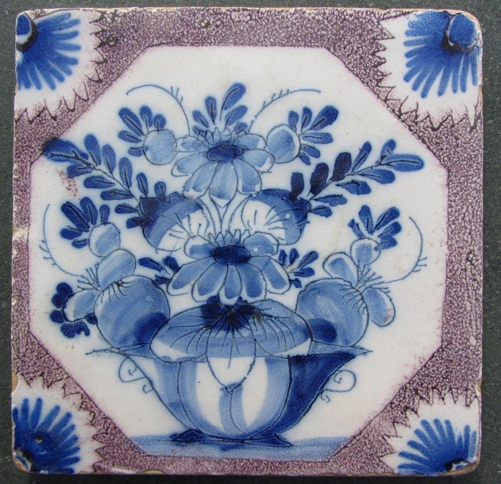 Antique english delft tile bristol london 1725 50 flower vase antique english delft tile bristol london 1725 50 flower vase 185 doublecrazyfo Image collections