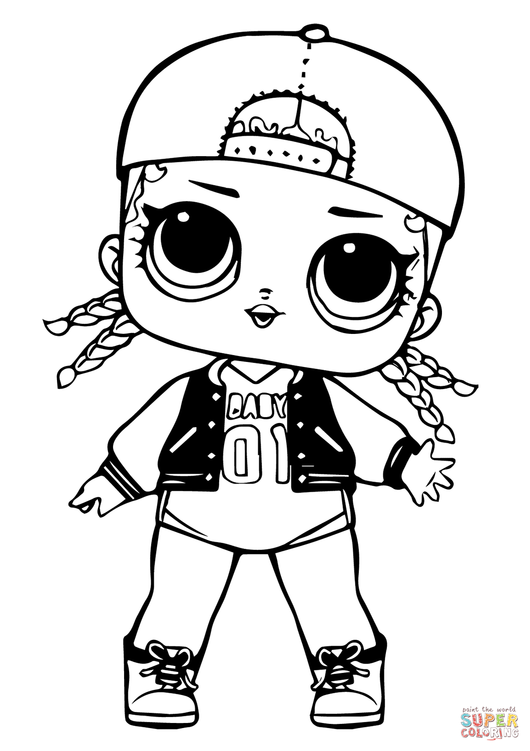 Lol Doll Mc Swag Super Coloring Lol Dolls Lol Coloring Pages
