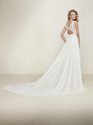 vestido de novia corte evasse escote pico | vestidos novias