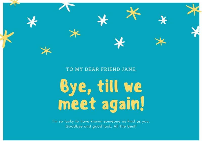 Printable Farewell Cards You Can Customize For Free Canva For Best Goodbye Card Template Farewell Cards Goodbye And Good Luck Card Template