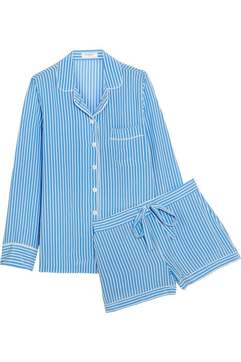 Equipment Lillian Striped Washed-Silk Pajama Set ( 390) 9abb3d6d0
