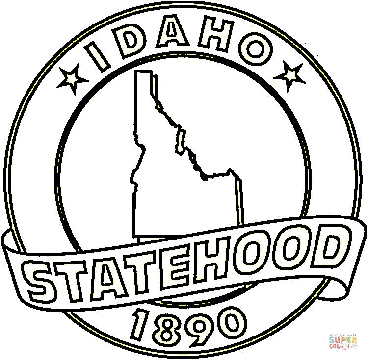 Idaho State Coloring Page Free Printable Coloring Pages Free