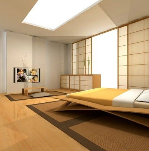 Simple design japan minimalist master bedroom apartment for Minimalist master bedroom ideas
