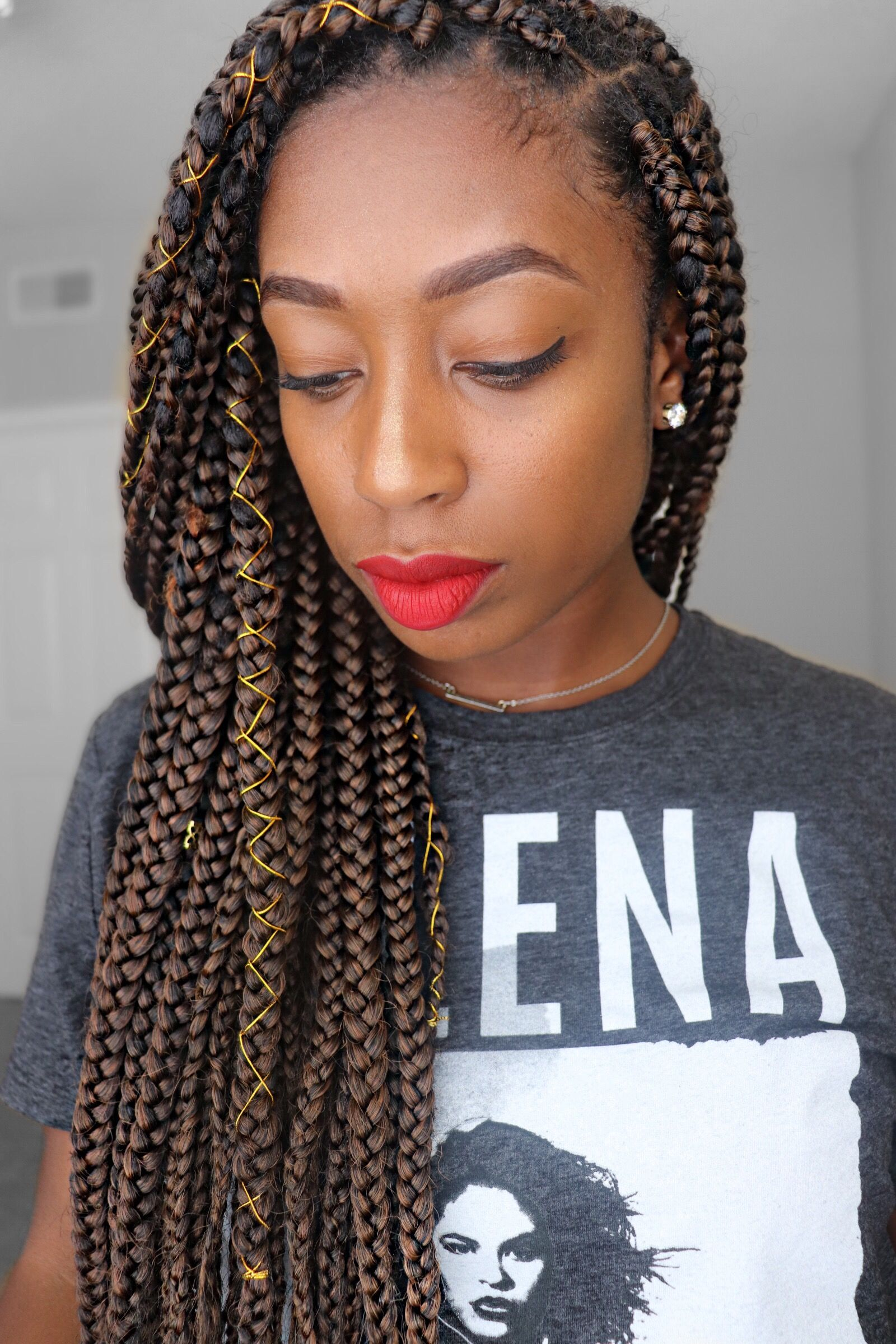 box braids color m1b/30 | girl with curls in 2019 | box