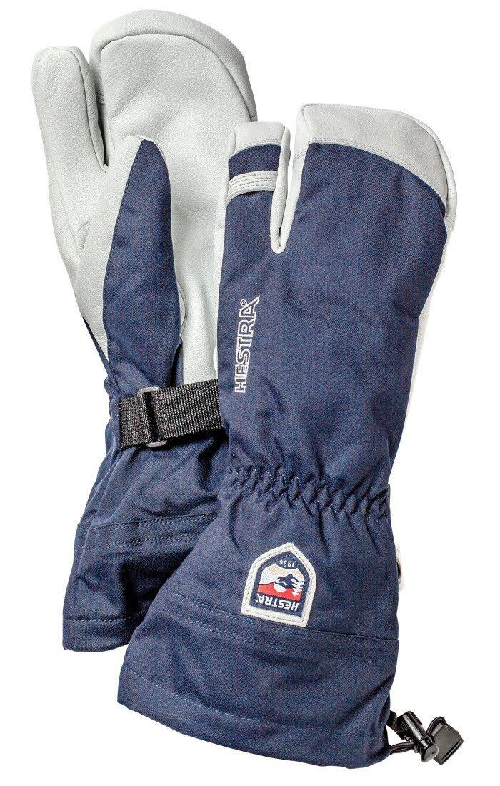 Hestra Army Leather Heli 3 Finger Ski Gloves Ski Accessories