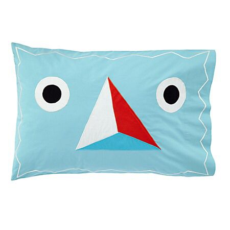 Pillow sham with open or closed eyes