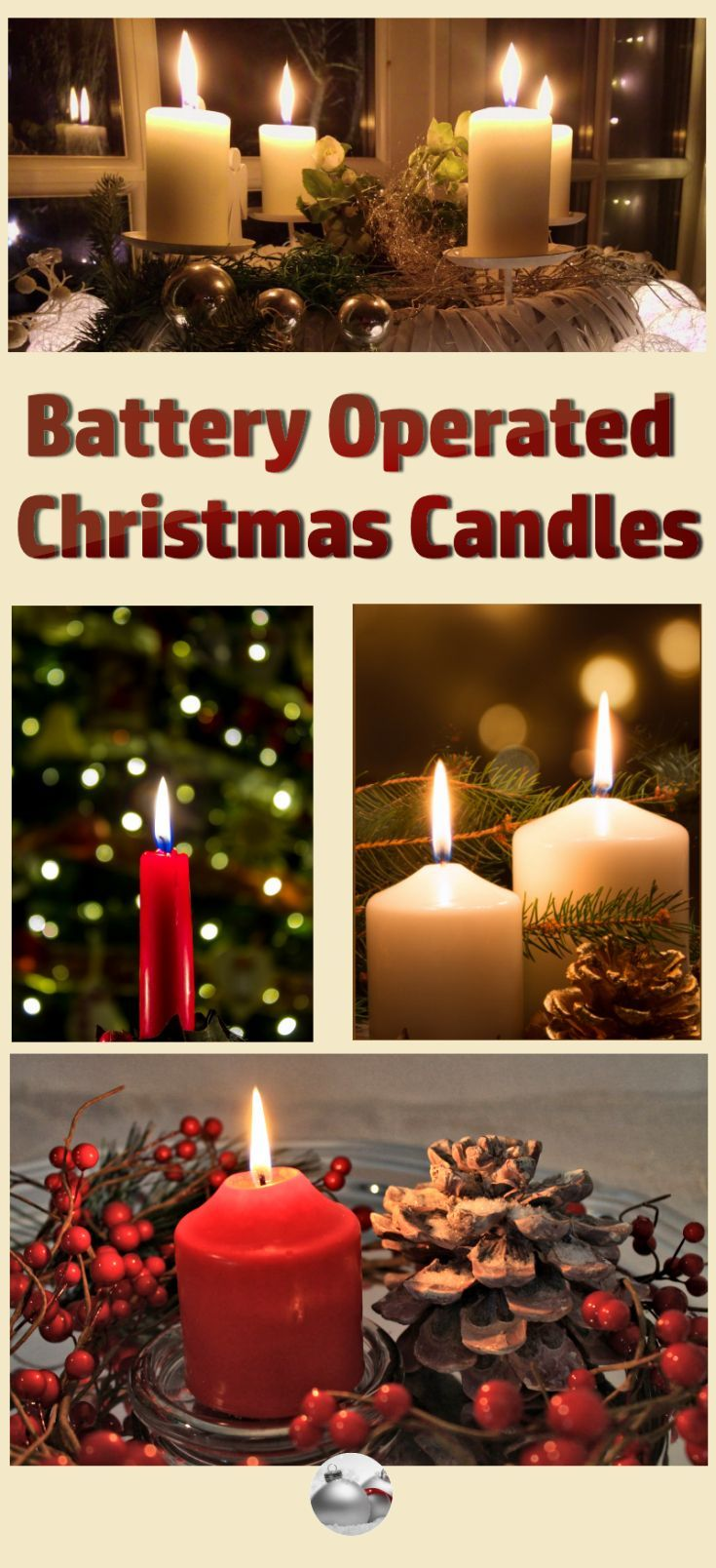 battery operated christmas candles country christmas decorating ideas pinterest battery operated - Battery Operated Christmas Decorations