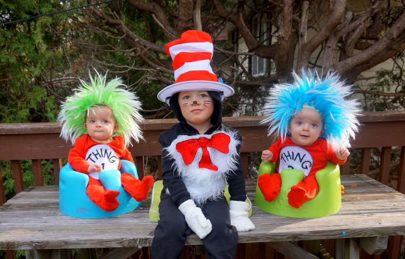 Look Kaleb and nikki you should of had your kids dress this way - dr seuss halloween costume ideas