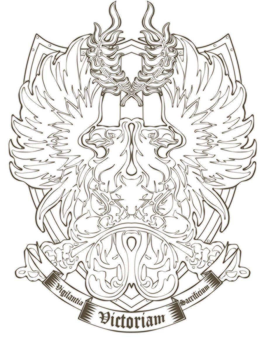 Grey Warden Shield Outline Tattoo Idea Love It Pinterest Grey