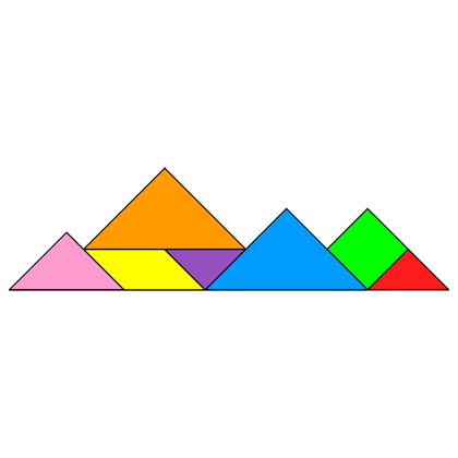 Image result for tangram mountains