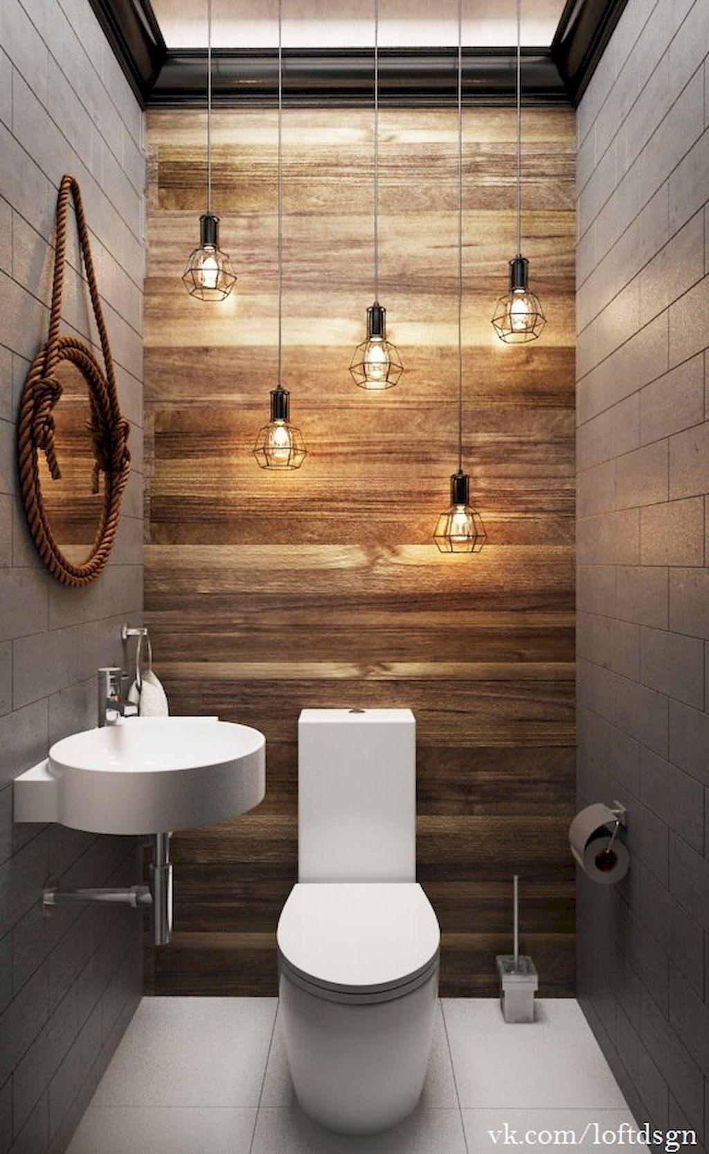 60 Cool Farmhouse Powder Room Design Ideas With Rustic Modern
