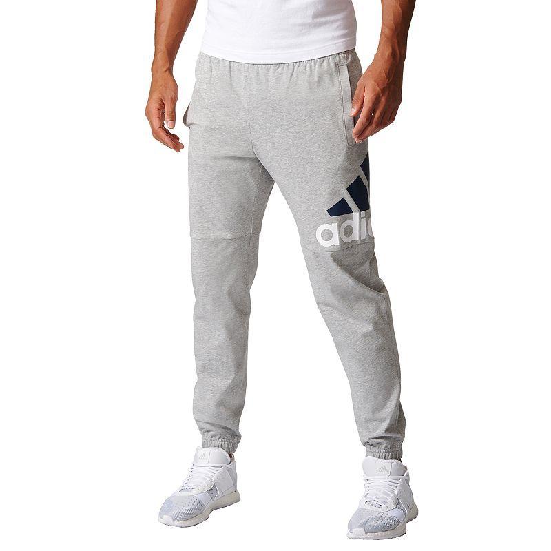 Men's adidas Essential Logo Jersey Pants | Mens adidas pants, Logo ...