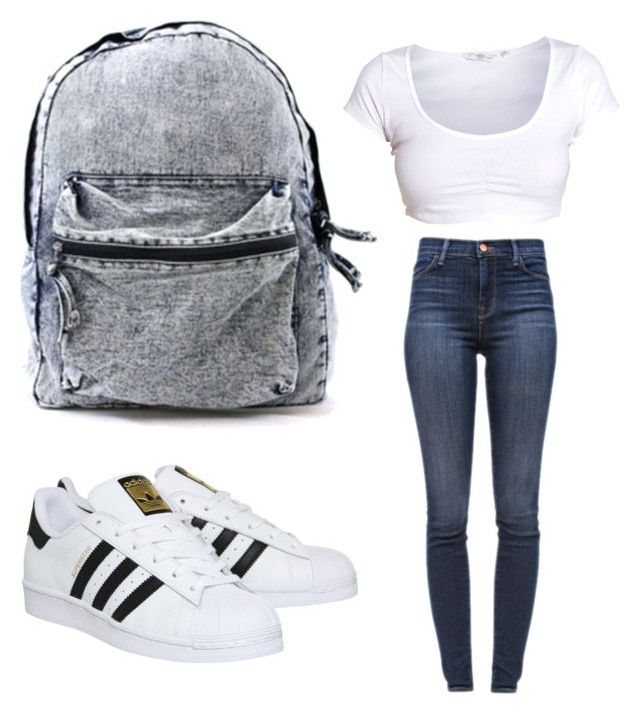 """Untitled #11"" by jairenee25 on Polyvore featuring J Brand and adidas"