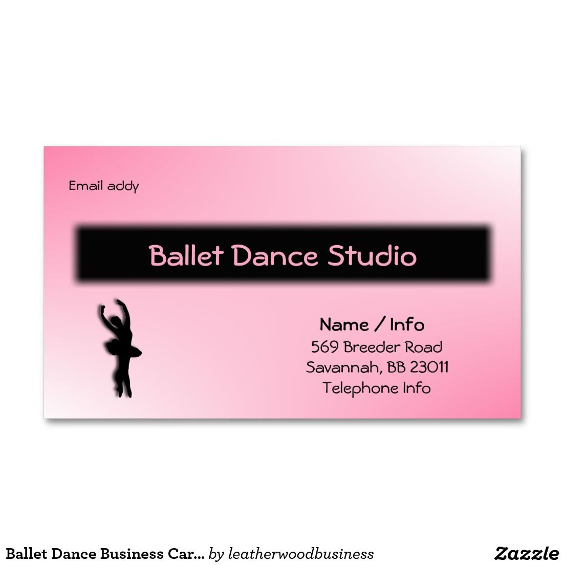 Ballet Dance Business Card / Customize | RGP - Favorite Business ...