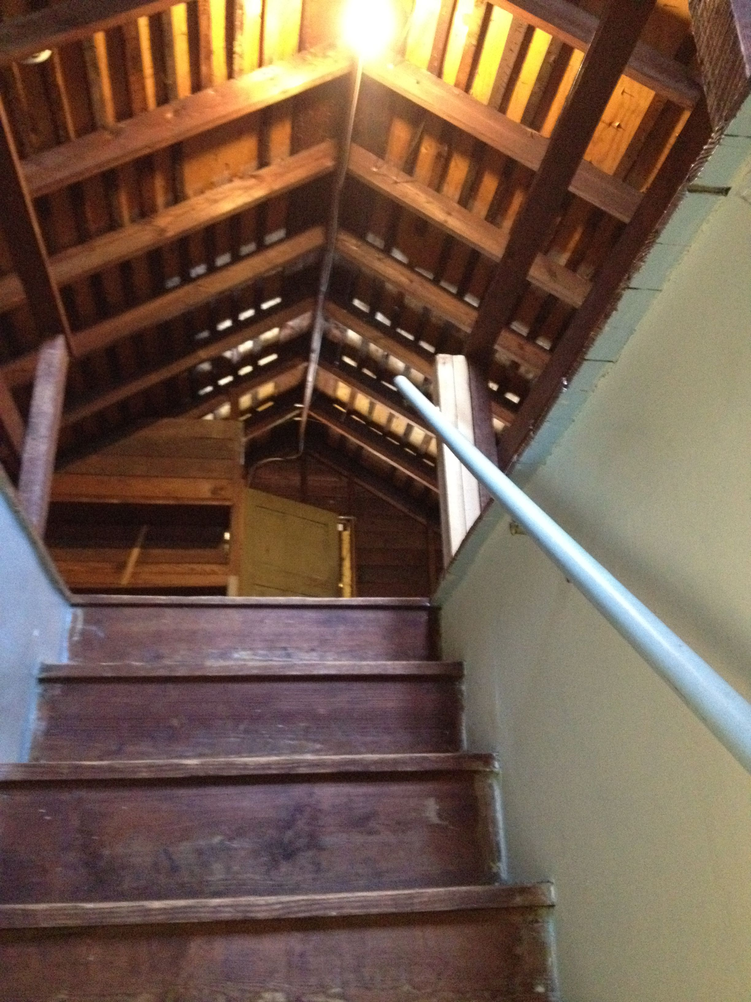 Stairs To Attic To Be Redone Stairs Attic Stairs Home