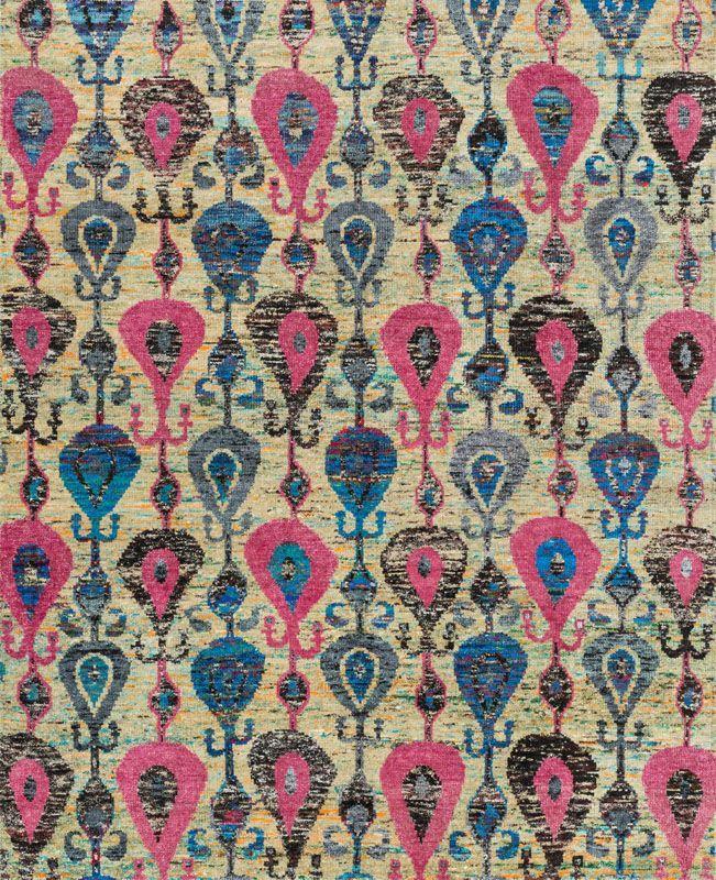 Loloi Rugs Giselle 04FD00 Hand Knotted Sari Art Silk Contemporary Area Rug