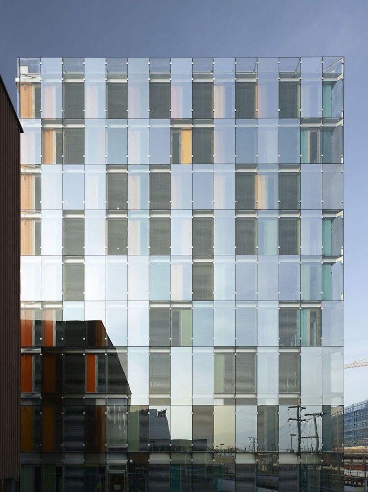 Glass facade architecture  Avenue de France Administrative Building / Group8 | Facades ...