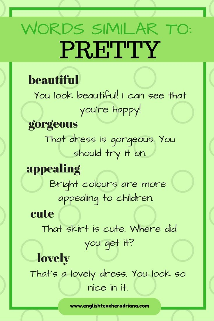 Palabras similares a Pretty | Ideas and inspiration for teaching GCSE English || www.gcse-english.com ||