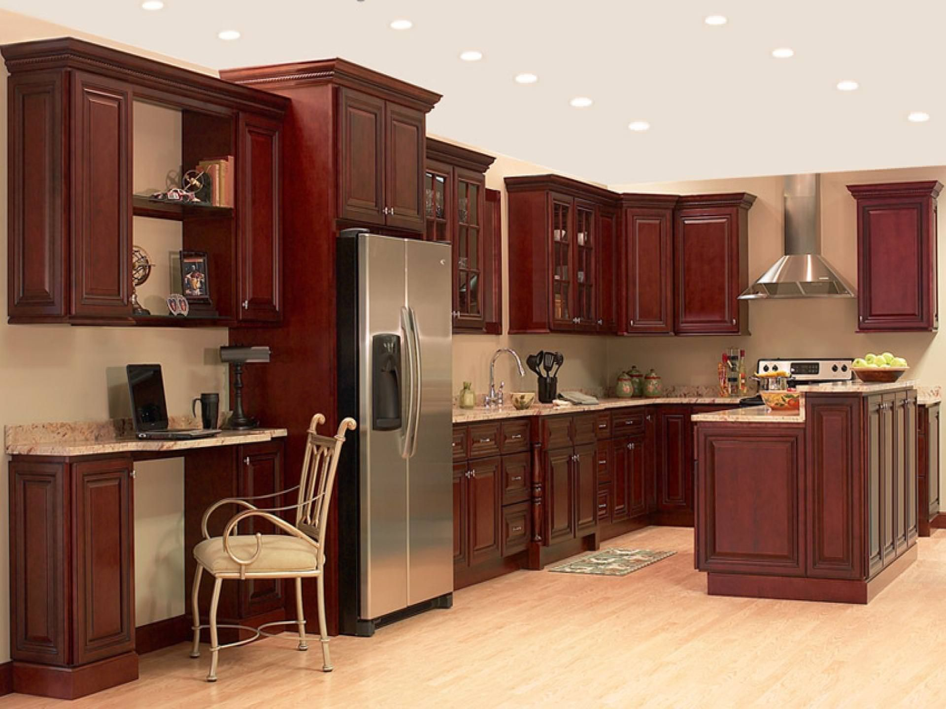Cherry Kitchen Cabinets The Home Depot Ideas In 2020 Kitchen Design Home Depot Kitchen Kitchen Designs Layout