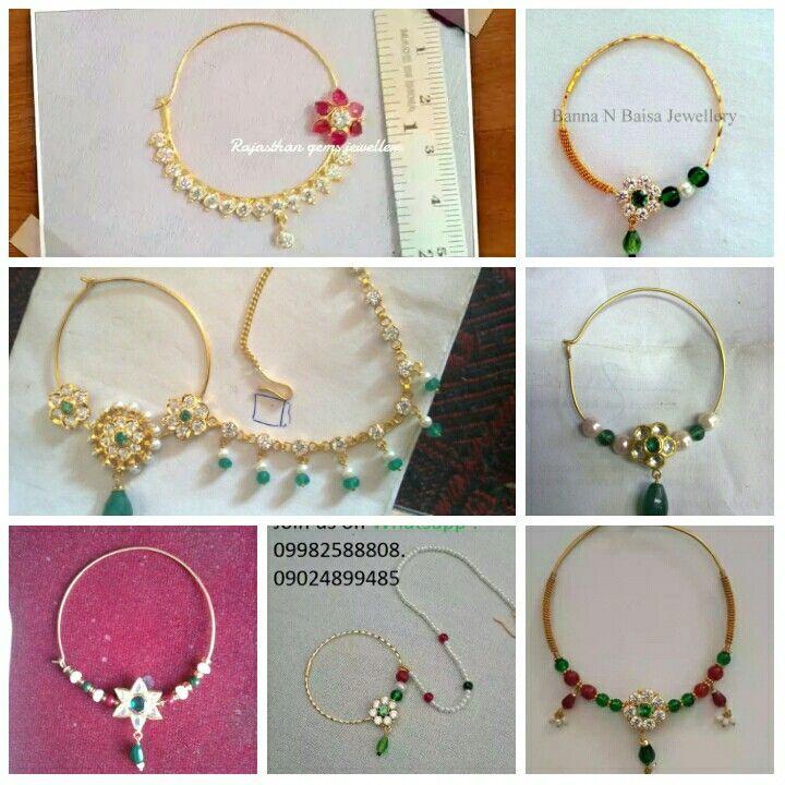 Rajputi nath which one you like....? | Royal rajputi jewellery ...