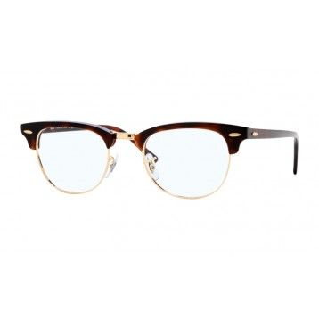 d1f86b99ac Ray Ban RB5154 Clubmaster Glasses, Red Havana Frame, Clear | All