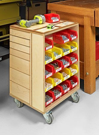 Shop Storage Cart Woodsmith Plans Woodworking Shop