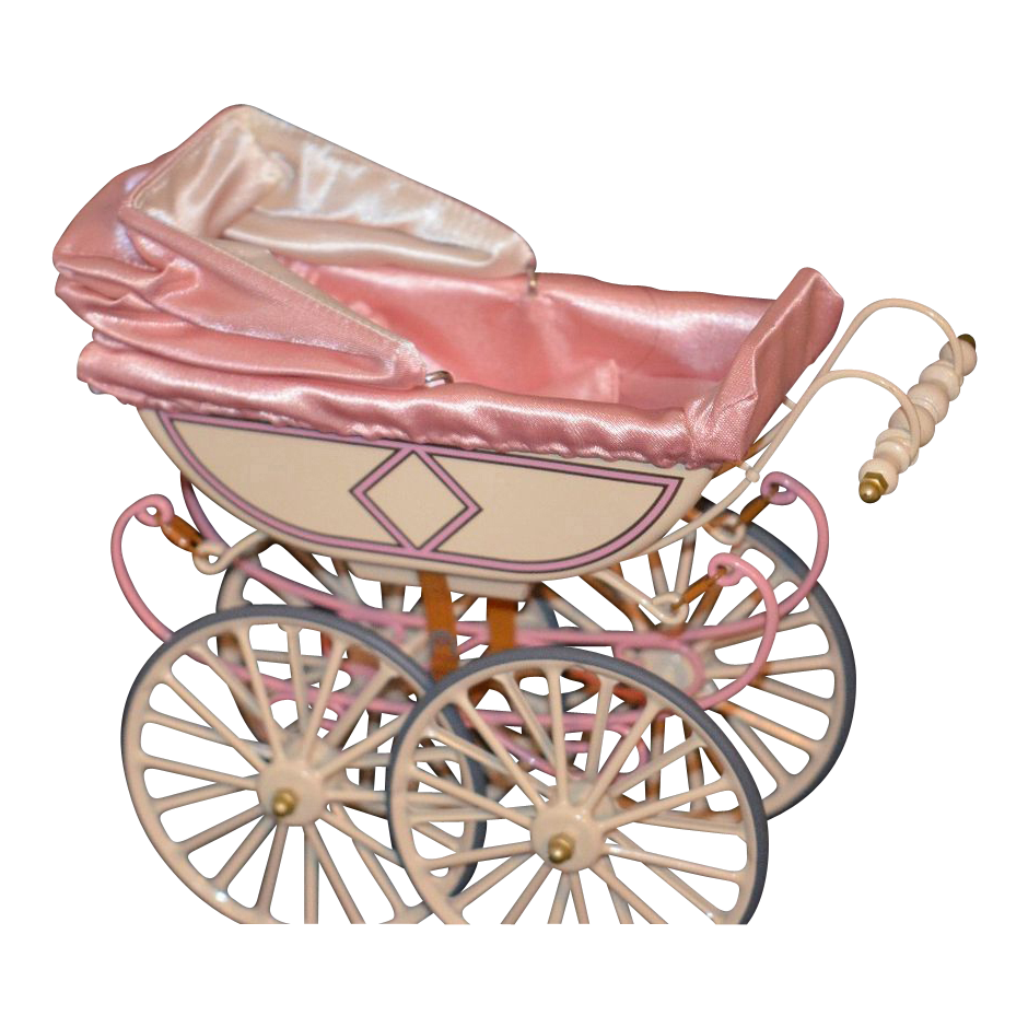 Vintage Doll Pram Carriage Buggy U.F.D.C. Miniature