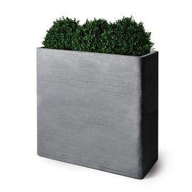 bac rectangulaire haut en fibre de terre h 92 cm gris