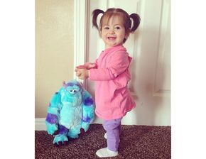 Monsters Inc. DIY Halloween costume  sc 1 st  Pinterest : boo monsters inc toddler costume  - Germanpascual.Com