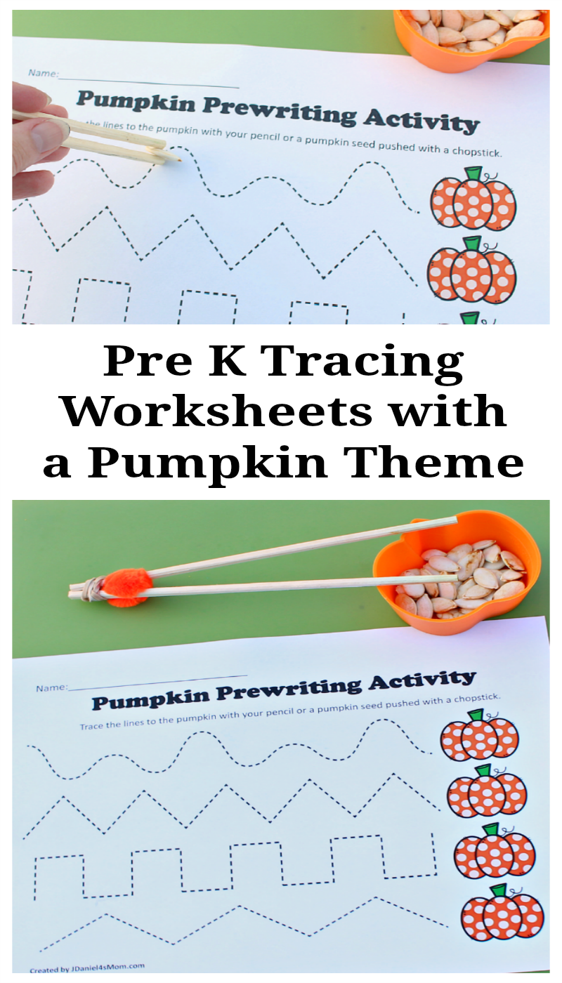 Pre K Tracing Worksheets with a Pumpkin Theme -Your children at home ...