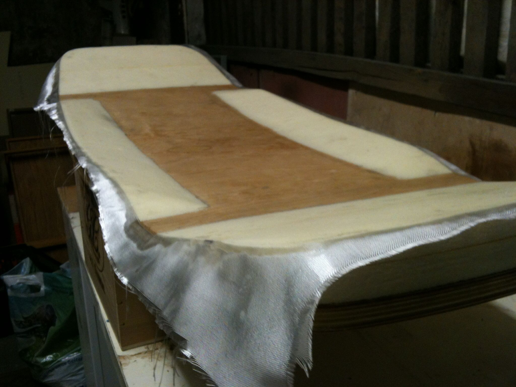 My Newest Diy Wakeskate Wooden Base, Styrofoam Top