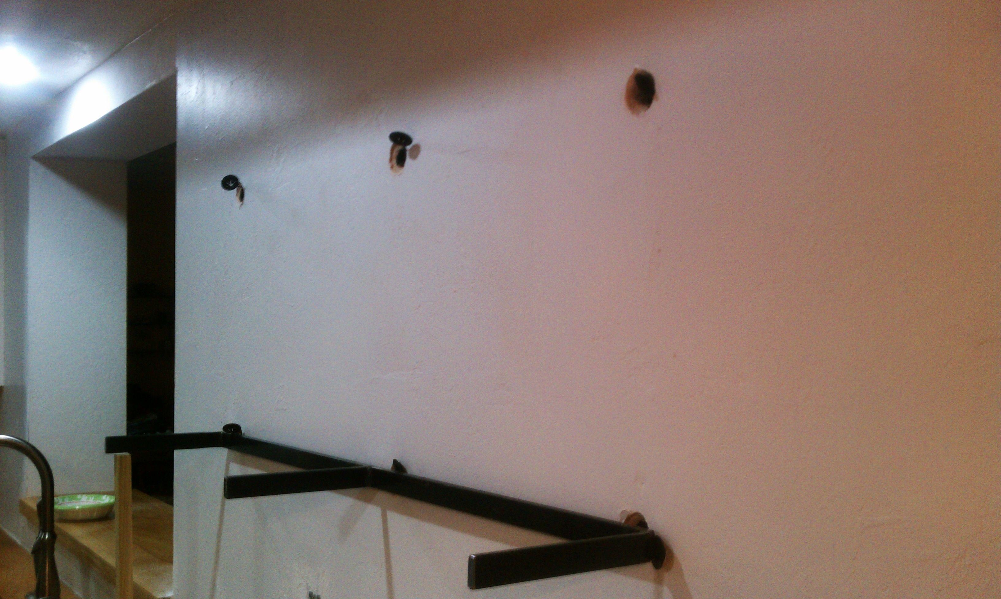 Floating Shelf Installation On Masonry Wall Floating Shelves Masonry Wall Custom Floating Shelves