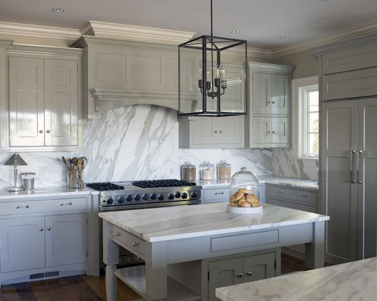 Best White And Gray Kitchen Features Glossy Gray Cabinets 400 x 300