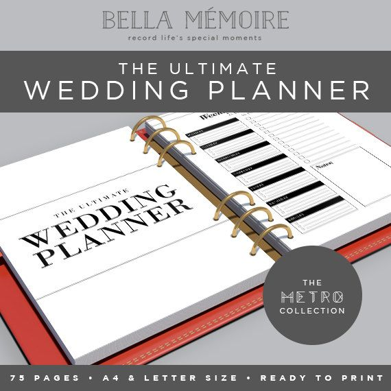 ♡ Stay on top of the wedding planning with this beautiful, DIY printable. This pack includes a huge 75 pages of yummy organizing - this is the ultimate pack for any organised bride and includes a huge month by month to do list, planning sheets for your wedding, master budget, bachelorette planner, bridal shower planner, bachelor party planner, rehearsal dinner planner, supplier directory and honeymoon planner. This planner has been designed as an ink saving printable and comes in clear black…