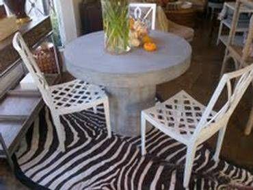 Contemporary Concrete Dining Table - Mecox Gardens