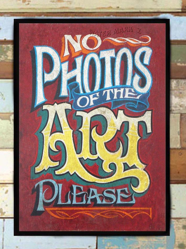 No Photos of Art Tattoo shop print. Make a great shop policy wall ...